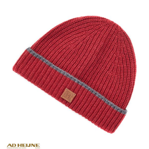 Hackett_London_rib_tip_beanie_rood_big_image