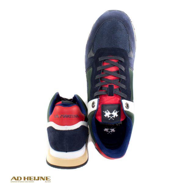 La_Martina_192010_Sneakers_blauw_groen_wit_leer_suede_canvas_big_image