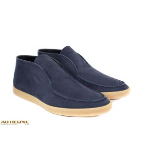 open walk loafers blauw suede